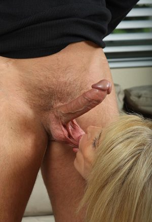 Mom son nylon footjob