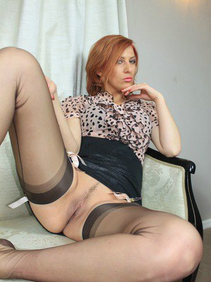 Mature ladies in stockings and suspenders